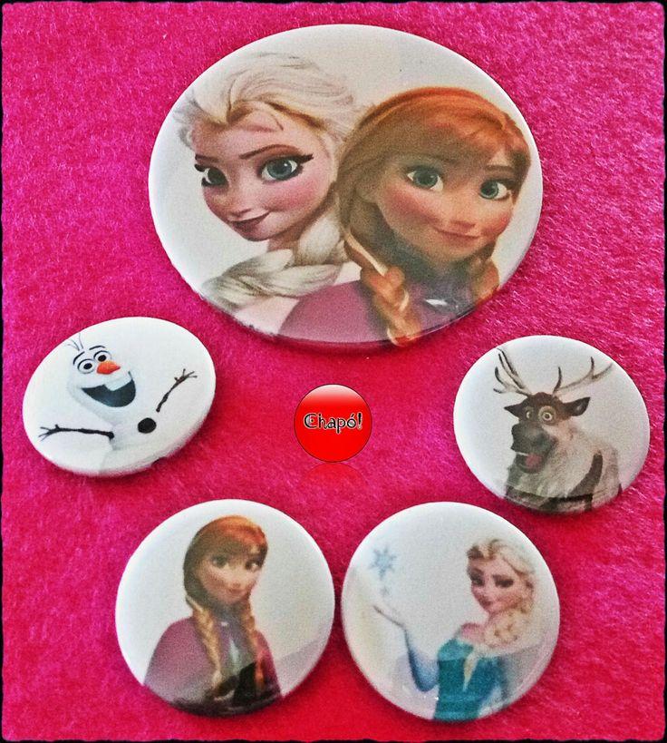 Lote de Frozen, porque con el calor que hace nos vendría bien que Elsa nos pusiera un par de cubitos en el refresco. #Chapó #chapaspersonalizadas #frozen #elsa #anna #olaf #disney
