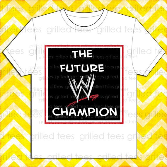 Personalized Children's Future WWE Champion Shirt by GrilledTees, colby 5th birthday
