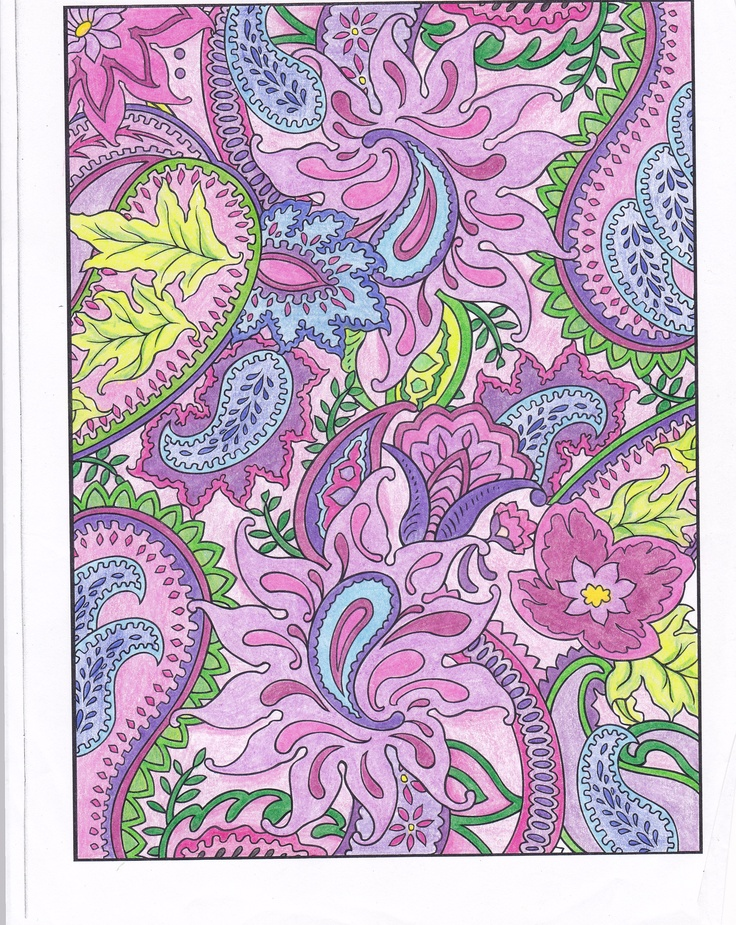 LeAnn Kershner (18+division) from Paisley Designs Coloring Book: http://store.doverpublications.com/0486456420.html
