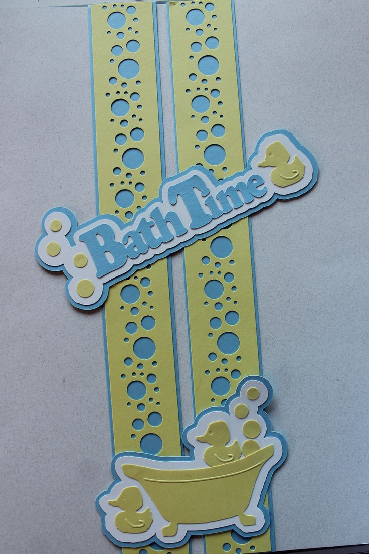 Scrapbook border ideas - Yep I Had These Die Cuts To Use Up The Bubble Punch From Cm Scrapbook Bordersscrapbook