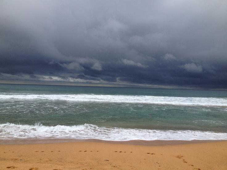 Morning walk on Copacabana Beach NSW