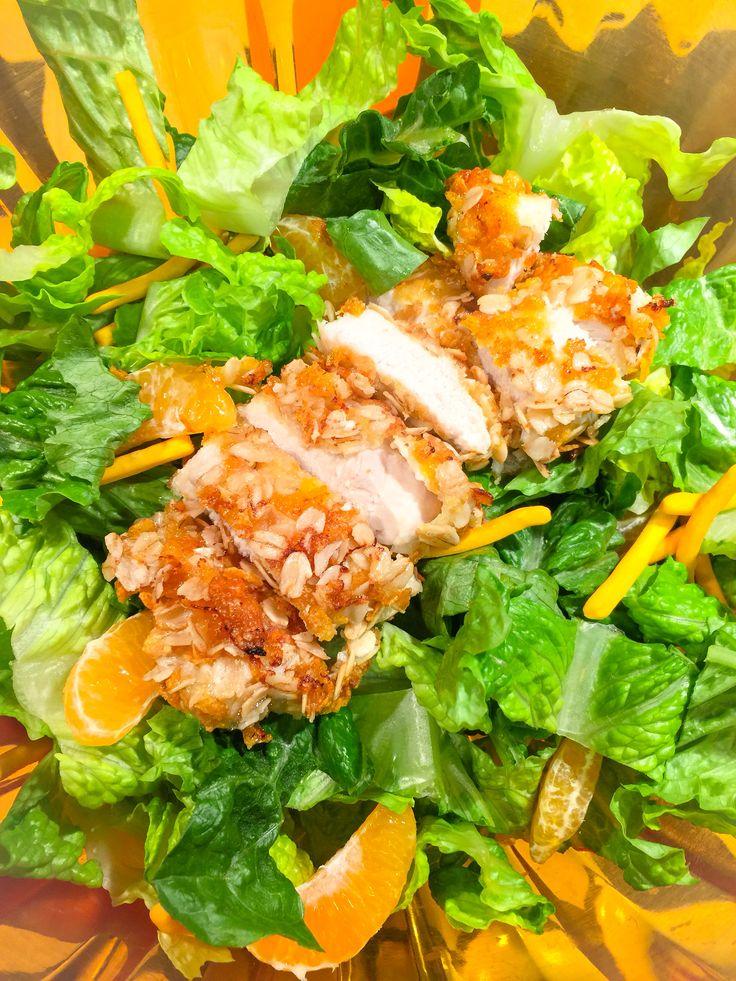 salade tha au poulet croustillant couper 2 poitrines de. Black Bedroom Furniture Sets. Home Design Ideas