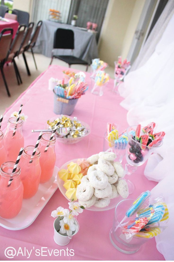 Sweets!  for Summer Sweet 16 Pool Party  Decor by Aly's Elegant Occasions