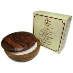 Sapun de ras in bol de lemn - Sandalwood