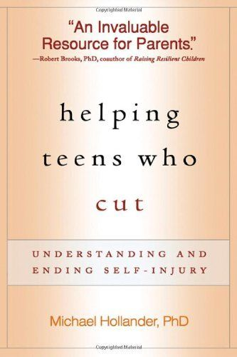 Great book for parents of teens who are cutting or engaging in self harm behaviors. Helping Teens Who Cut: Understanding and Ending Self-Injury by Michael Hollander PhD, http://www.amazon.com/dp/1593854269/ref=cm_sw_r_pi_dp_zGY3qb1TCWZPE