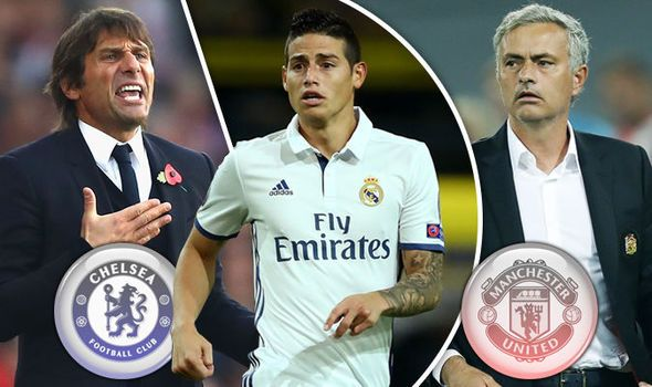 Exclusive: Chelsea boss Antonio Conte to challenge Jose Mourinho for James Rodriguez