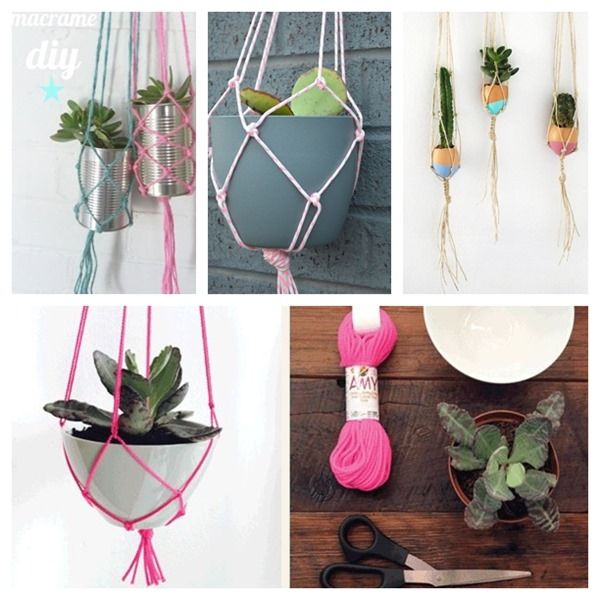 diy macrame planters and anybody can do macrame
