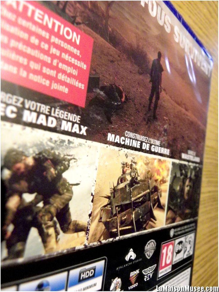 """""""Seuls les fous survivent."""", indiquent la jaquette de Mad Max sur PlayStation 4. Il fallait être un peu foufou pour s'acheter un énième jeu à terminer. En même temps, difficile de refuser pour 26€ ... 1/2  http://lamaisonmusee.com/"""