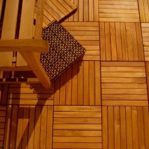 10 Pk Teak Patio Flooring