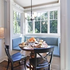 traditional kitchen by Schrader & Companies: Idea, Benches, Traditional Kitchens, Breakfast Nooks, Dreams House, Kitchens Nooks, Round Tables, Window Seats, Bays Window