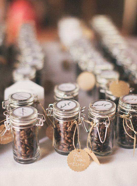 coffee bean wedding favors, photo by Heather Jowett