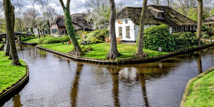Giethoorn Holland - Town Made of Canals My grandmother was Dutch, how lovely it would be to visit Holland.