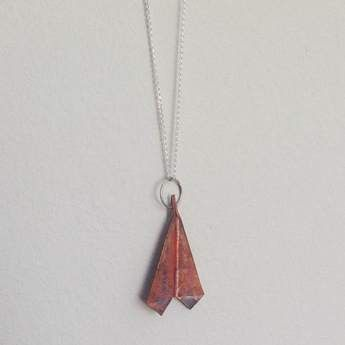 We Heart This - Copper Paper Jet Necklace