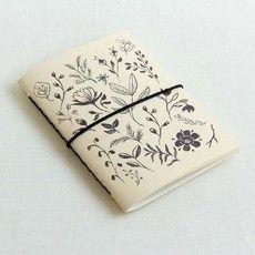 Caderno brochura botânica