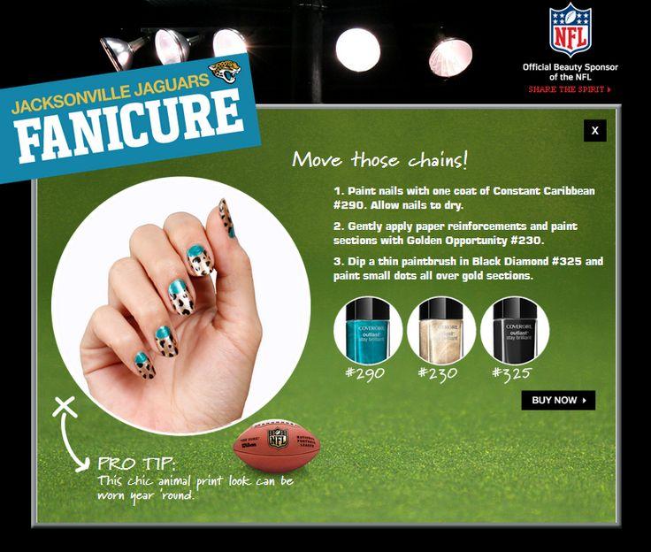 Jacksonville Jaguars #NFL #Fanicure #COVERGIRL