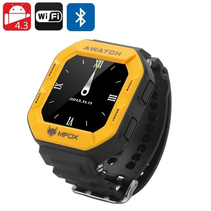 MFOX AWATCH - IP68 Heart Monitor Watch, Android 4.3 OS, Bluetooth 4.0, Fitness