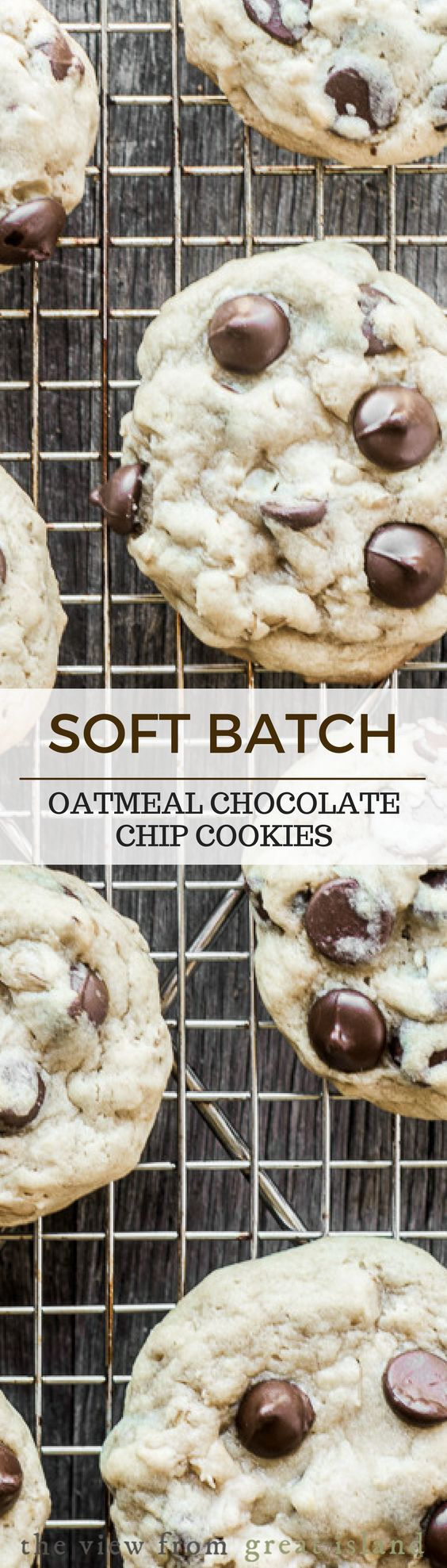 Soft Batch Oatmeal Chocolate Chip Cookies are the ultimate back to school treat, whether you pack them in a lunch, use them as a homework bribe, or just indulge in some 'me time' after the bus has pulled away.