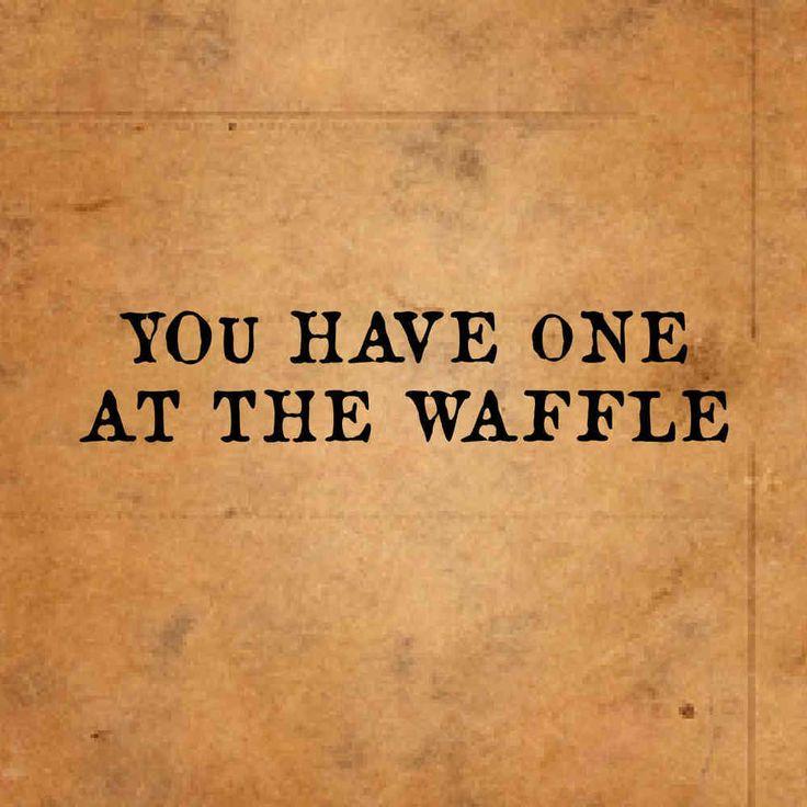 at the waffle