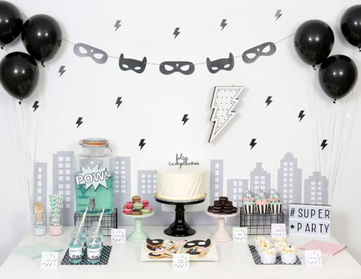 "Superheroes / Birthday ""Modern Superhero Party"" 