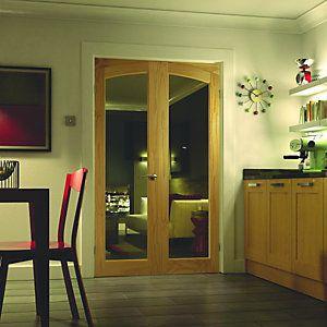 Wickes Newland Internal French Doors Glazed 2 Lite 2007 x 1218mm & The 25+ best Wickes interior doors ideas on Pinterest | Wickes ...