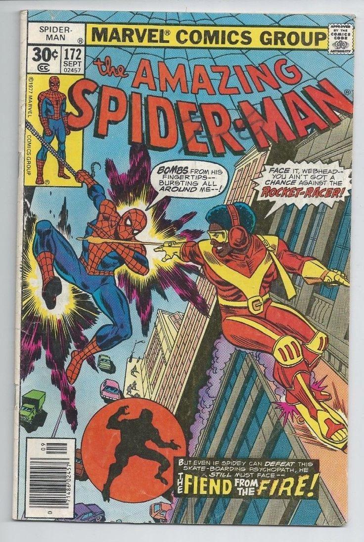 "VINTAGE 1977 MARVEL COMICS The Amazing Spider-Man #172 ""ROCKET-RACER-APP."": $0.99 (0 Bids) End Date: Thursday Mar-15-2018 8:00:30 PDT Bid…"