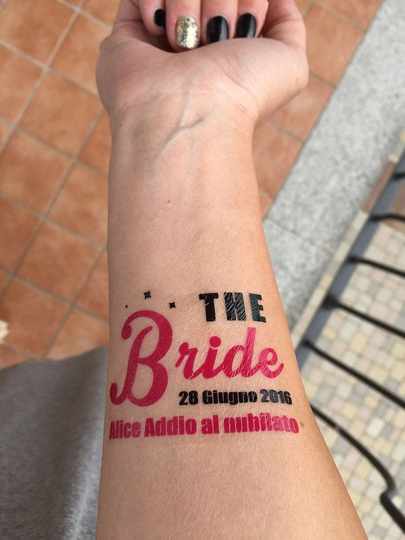 Temporary Tatoos Addio nubilato Bachelorette Party di Verifly