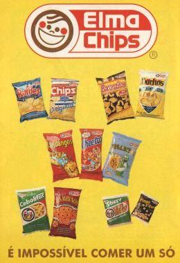 Clássicos são clássicos para todo o sempre... amém! Ruffles, Chips (batata lisa), Baconzitos, Doritos (queijo), Fandangos, Cheetos (com o ratinho antes do Chester Cheetah), Pegaditos (durou pouco, ...