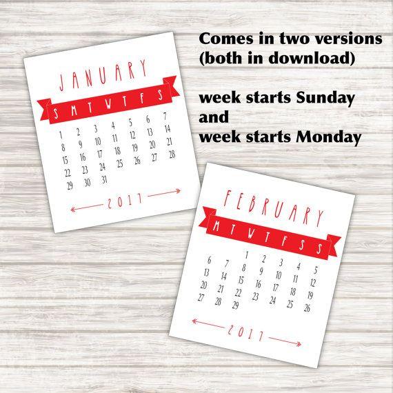 2017 Desk Calendar for Jewel Case  Printable PDF by paper4download