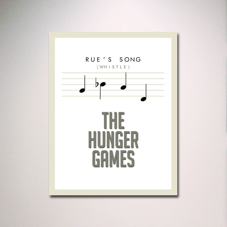 "Rue's Song Hunger Games Inspired Poster 11"" x 14"" in White. $15.00, via Etsy."
