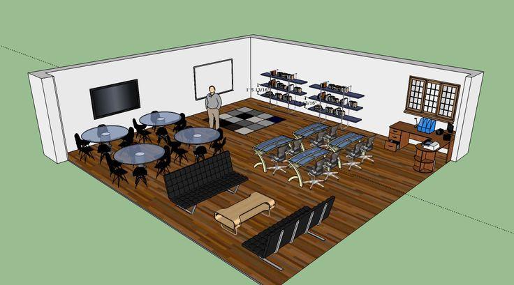 Modern Computer Classroom ~ Ideas about computer lab design on pinterest