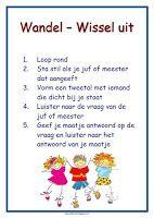 poster werkvorm 'wandel-wissel uit' lesmateriaal en andere onderwijstips van juf Jantine