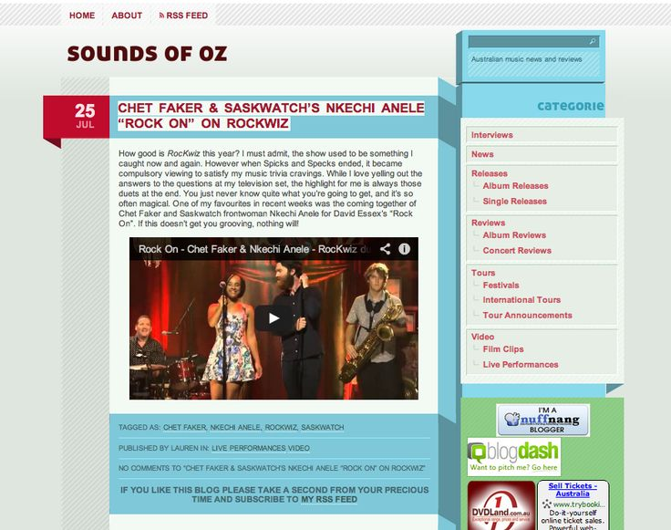 Sounds of Oz Dig it! http://www.soundsofoz.com/2013/07/25/chet-faker-saskwatchs-nkechi-anele-rock-on-on-rockwiz/