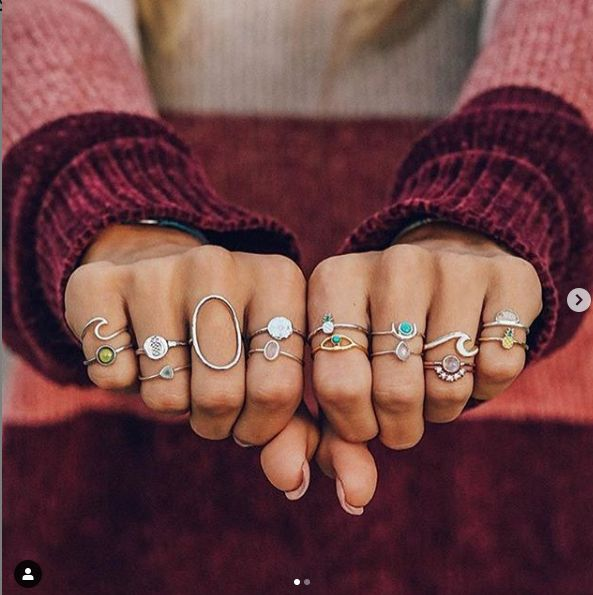 """Where's all the ring lovers at? Share this to someone who needs these. Shop Now!! Use my code """"CHELSIEGAINEY21"""" at checkout for 20% off of ur order."""