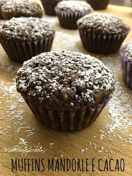 Muffins mandorle e cacao ricetta facilissima