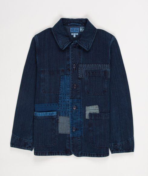 Blue Blue Japan - Indigo Dyed Patch Jacket (via Norse Store)
