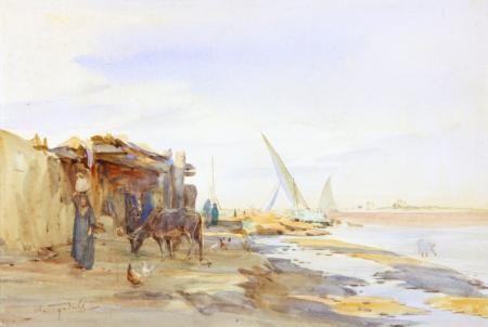 ROSETTA, BANK OF THE NILE by WALTER TYNDALE - original artwork for sale | Chris Beetles