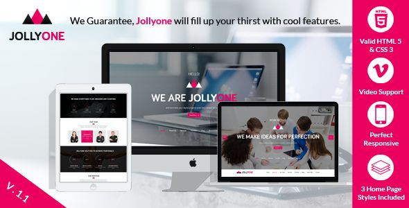 Jollyone - Creative Onepage HTML5 Website Template