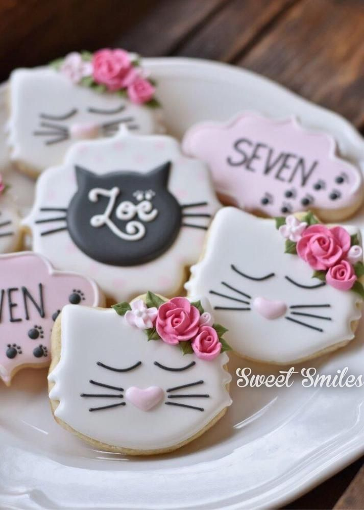 Kitty Birthday Cookies | Cookie Connection