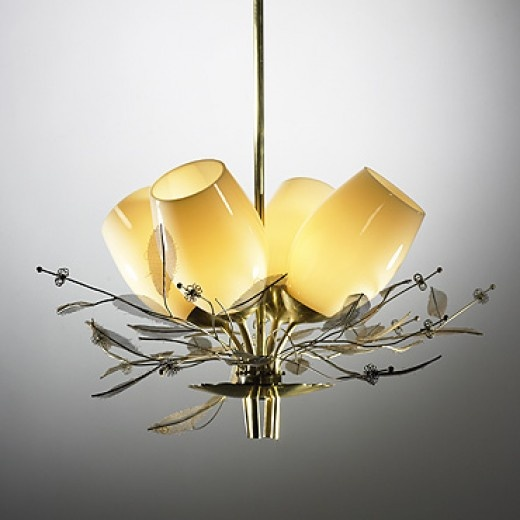 PAAVO TYNELL / Chandelier / Finland, c. 1950