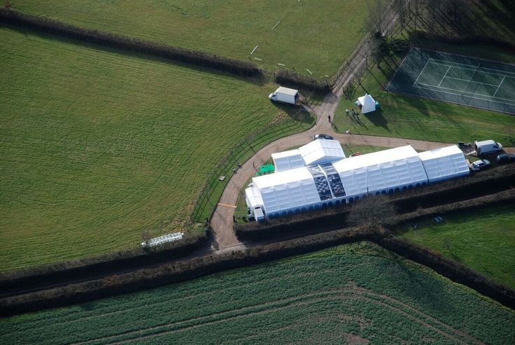 Can you spot the #dancefloor from up here? A Peninsula Marquee all set up and ready to go!