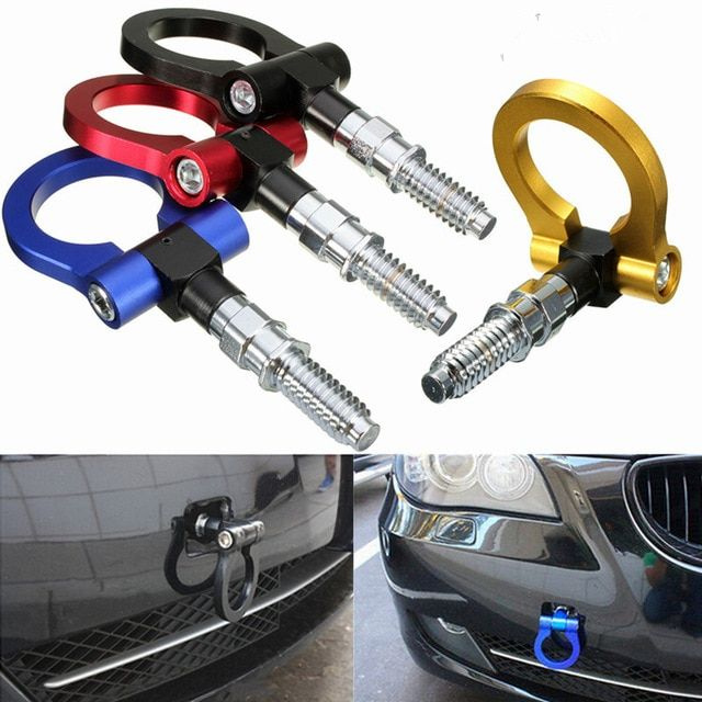 blue Strap Tow,Trailer Rope,Professional Shackle Universal Emergency Vehicle Trailer Rope For Car,Racing Tow Sticker Strap Set for Front Rear Bumper Towing Hook