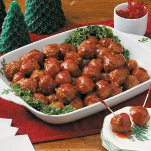 Made this a zillion times for parties. Big hit! Honey-Garlic Glazed Meatballs