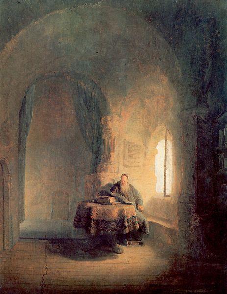 Rembrandt van Rijn, Scholar Reading on ArtStack #rembrandt #art