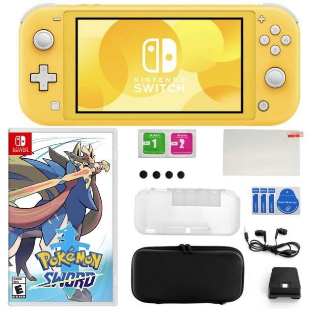 Nintendo Switch Lite Bundle With Pokemon Sword And Accessories In 2020 Nintendo Switch Nintendo Pokemon