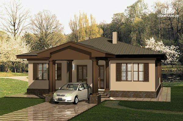 Фото 1: проект одноэтажный удобный дом с тремя спальнями и ...