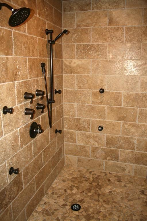 Rustic Tile Shower Design Small Bathroom Shower Tile Design