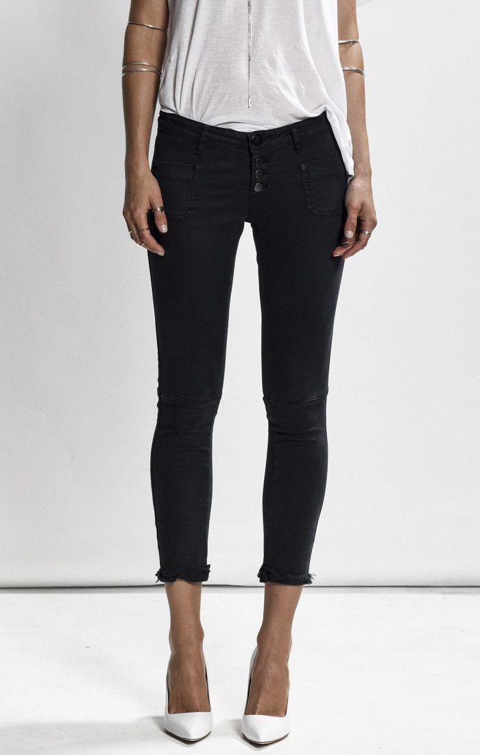 oneteaspoon - Moleskin Black Super Duper Jeans