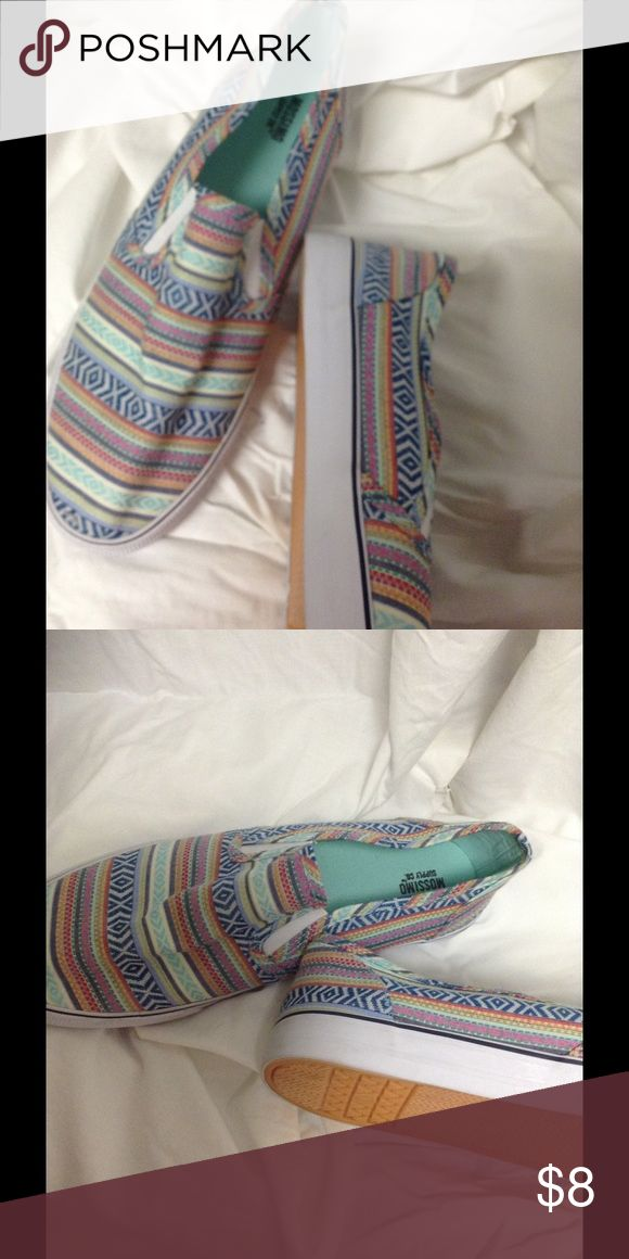 Slip on tennis shoes Colorful Mosaic slip ones. Brand new. Too narrow for my feet. Mossimo Supply Co. Shoes Flats & Loafers