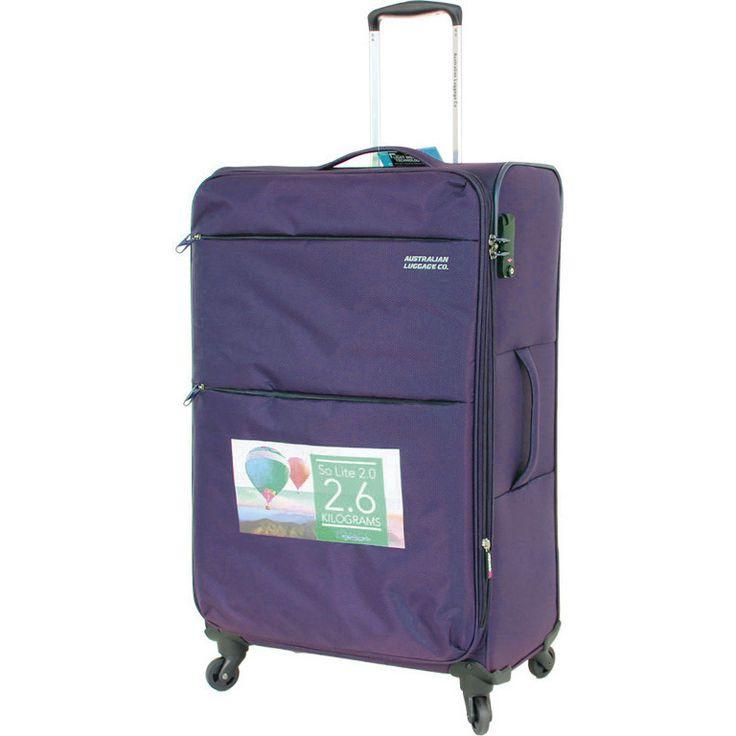 Aus Luggage So Lite 2.0 4 Wheel Suitcase - Plum   Buy 4 Wheel Suitcases