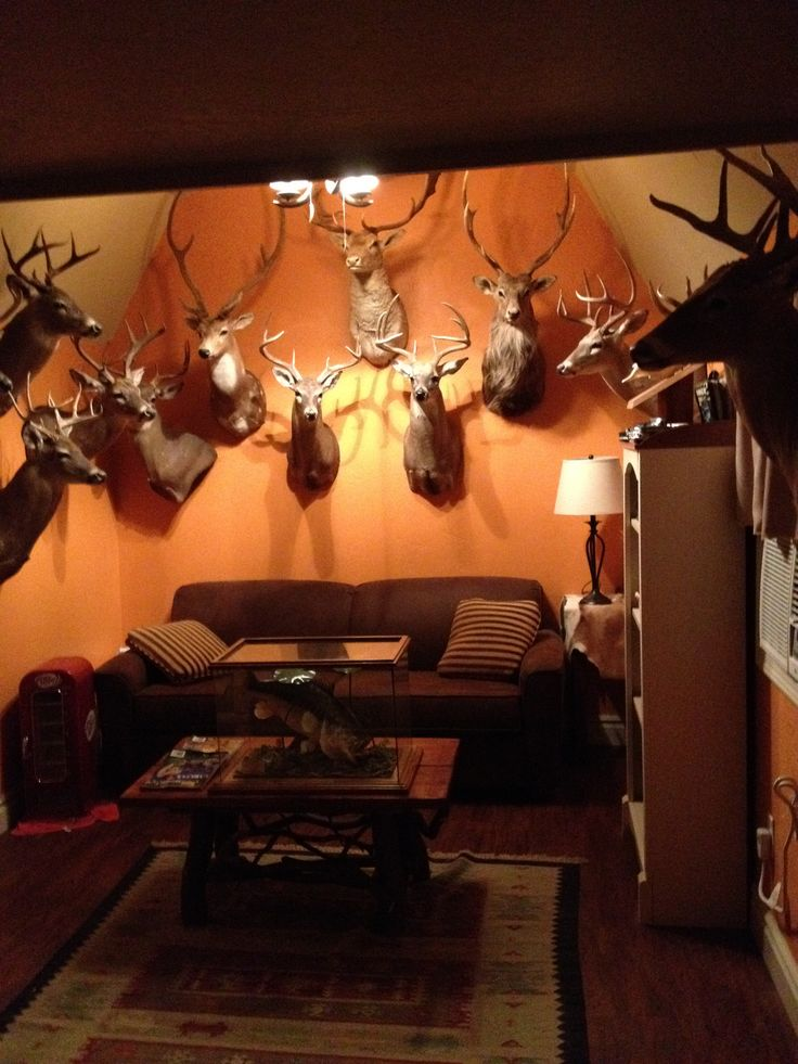 Deer Hunting Man Cave Ideas : Best images about hunting fishing themed man caves on